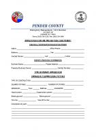 PENDER COUNTY Permit