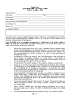 Application for Public Use of County Facilities