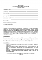 Application for Public Use of County Hampstead Annex