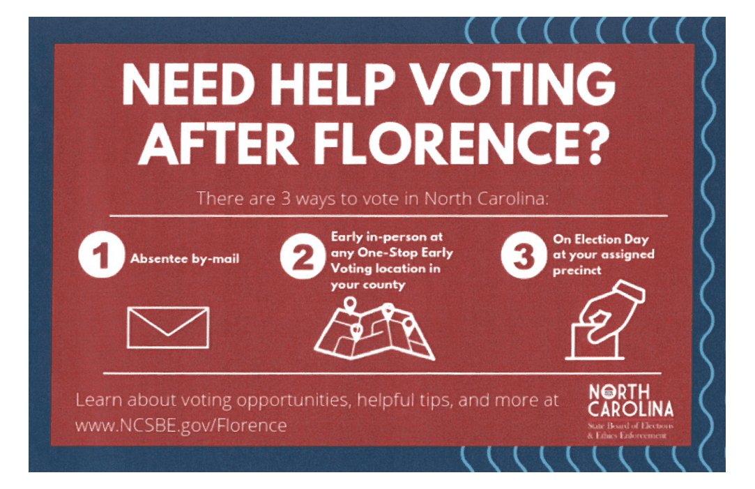 Need Help Voting After Florence Infographic