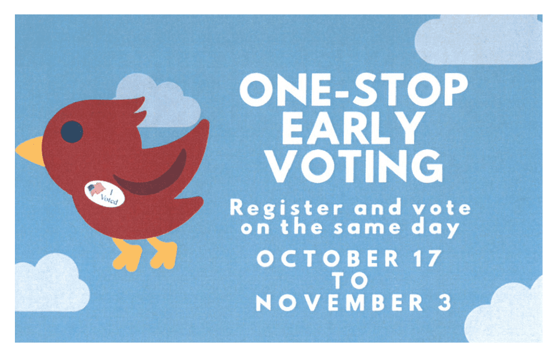 One-Stop Early Voting Flyer